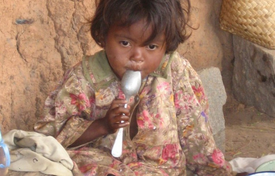 Child in highlands, Madagaskar