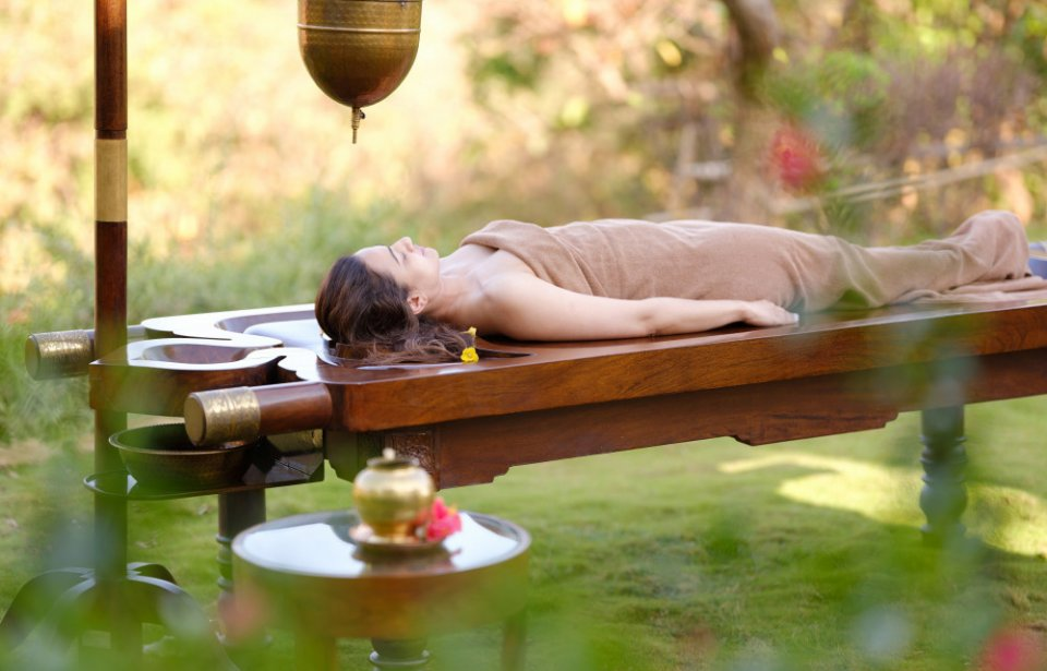Ayurveda-hoito, Atmantan Wellness Resort, Intia