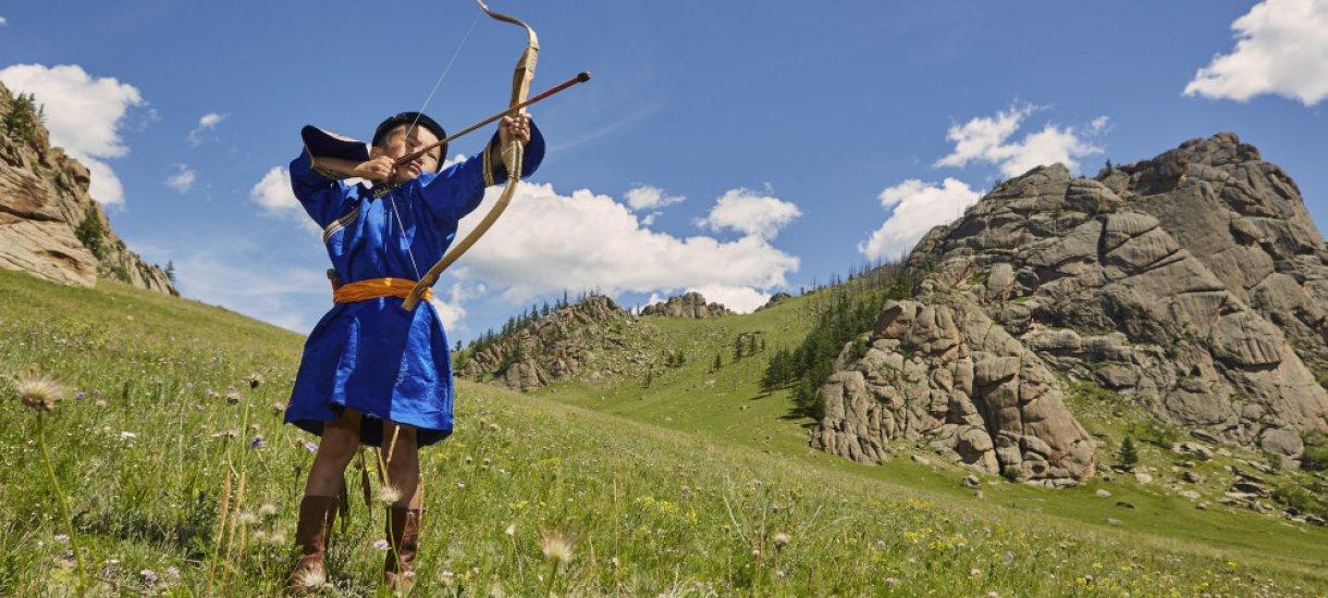 Jousiammuntaa Mongoliassa