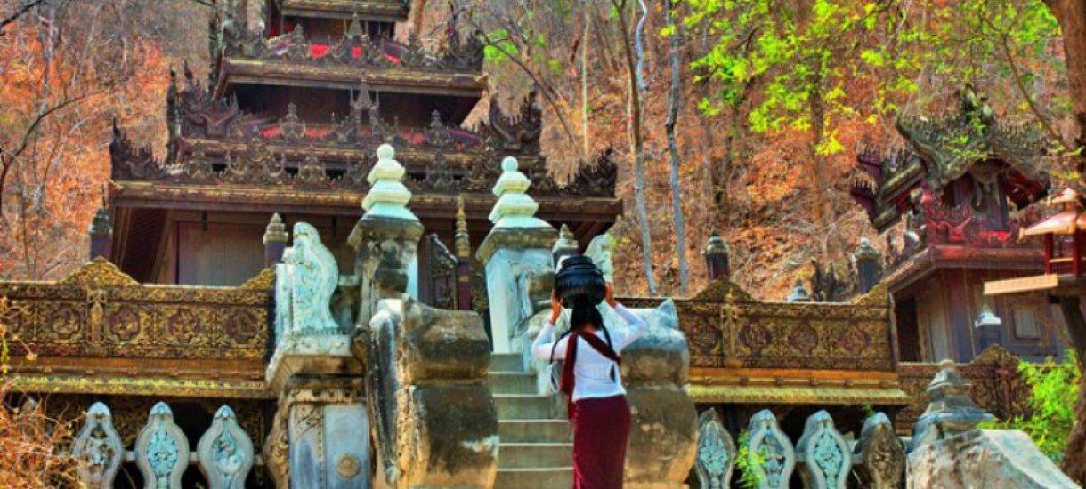 Muinaisia temppeleitä Myanmarissa