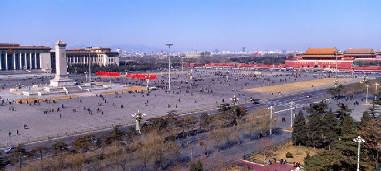Kiina, Peking, taivaallisen rauhan aukio