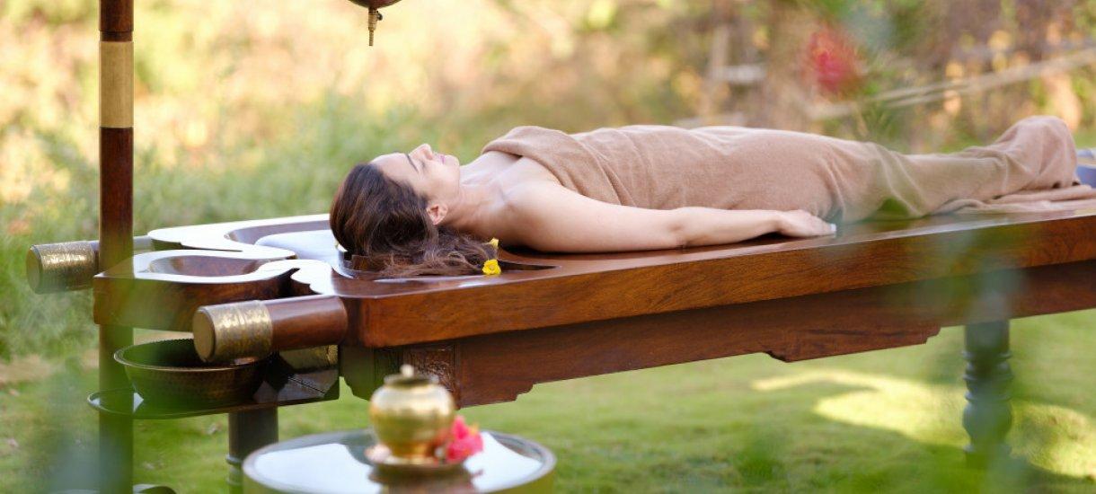 Ayurveda-hoito, Atmantan Wellness Resort, Intia