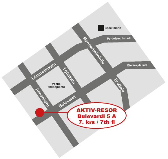 Aktiv-Resor kartta